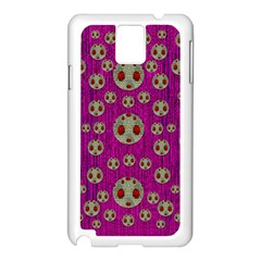 Ladybug In The Forest Of Fantasy Samsung Galaxy Note 3 N9005 Case (White)