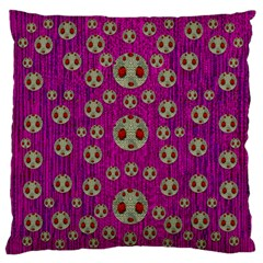 Ladybug In The Forest Of Fantasy Large Flano Cushion Case (Two Sides)