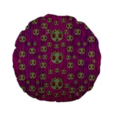 Ladybug In The Forest Of Fantasy Standard 15  Premium Flano Round Cushions