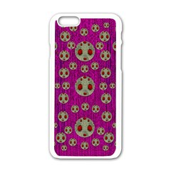Ladybug In The Forest Of Fantasy Apple Iphone 6/6s White Enamel Case
