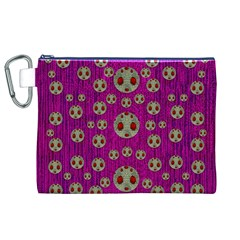 Ladybug In The Forest Of Fantasy Canvas Cosmetic Bag (XL)