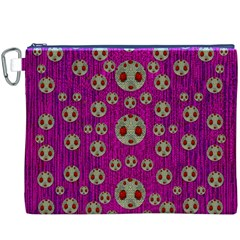 Ladybug In The Forest Of Fantasy Canvas Cosmetic Bag (XXXL)