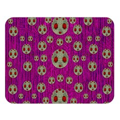 Ladybug In The Forest Of Fantasy Double Sided Flano Blanket (Large)