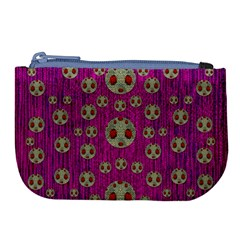 Ladybug In The Forest Of Fantasy Large Coin Purse
