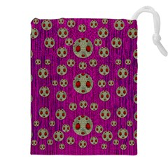 Ladybug In The Forest Of Fantasy Drawstring Pouches (XXL)