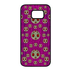 Ladybug In The Forest Of Fantasy Samsung Galaxy S7 edge Black Seamless Case