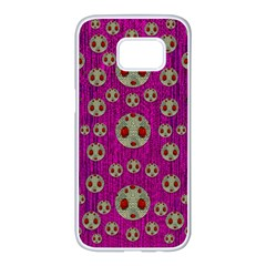 Ladybug In The Forest Of Fantasy Samsung Galaxy S7 edge White Seamless Case