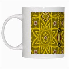Stars And Flowers In The Forest Of Paradise Love Popart White Mugs