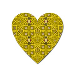 Stars And Flowers In The Forest Of Paradise Love Popart Heart Magnet