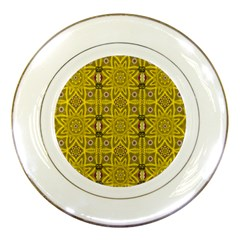 Stars And Flowers In The Forest Of Paradise Love Popart Porcelain Plates
