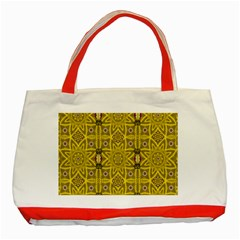 Stars And Flowers In The Forest Of Paradise Love Popart Classic Tote Bag (Red)