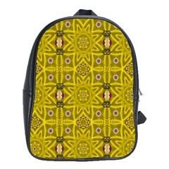 Stars And Flowers In The Forest Of Paradise Love Popart School Bags (XL)