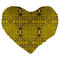 Stars And Flowers In The Forest Of Paradise Love Popart Large 19  Premium Heart Shape Cushions