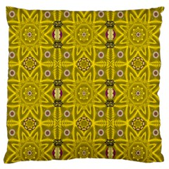 Stars And Flowers In The Forest Of Paradise Love Popart Large Flano Cushion Case (one Side)
