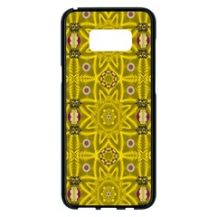 Stars And Flowers In The Forest Of Paradise Love Popart Samsung Galaxy S8 Plus Black Seamless Case