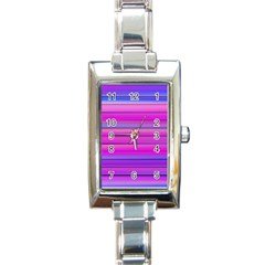 Cool Abstract Lines Rectangle Italian Charm Watch