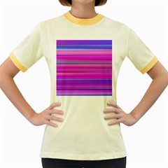 Cool Abstract Lines Women s Fitted Ringer T Shirts