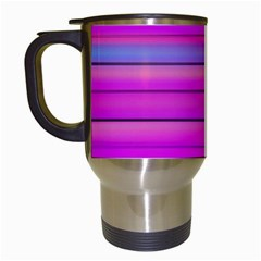 Cool Abstract Lines Travel Mugs (White)