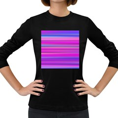 Cool Abstract Lines Women s Long Sleeve Dark T Shirts