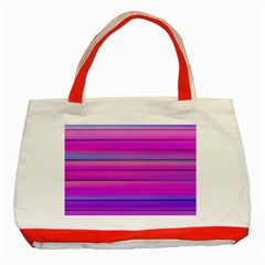 Cool Abstract Lines Classic Tote Bag (Red)