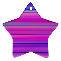 Cool Abstract Lines Star Ornament (Two Sides)
