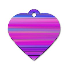 Cool Abstract Lines Dog Tag Heart (Two Sides)