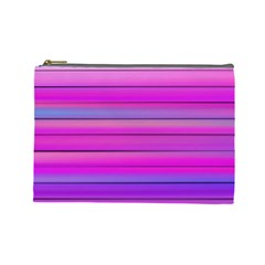 Cool Abstract Lines Cosmetic Bag (large)