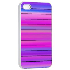 Cool Abstract Lines Apple Iphone 4/4s Seamless Case (white)