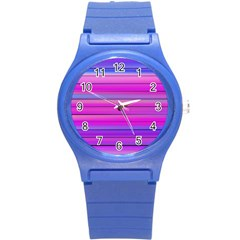 Cool Abstract Lines Round Plastic Sport Watch (S)
