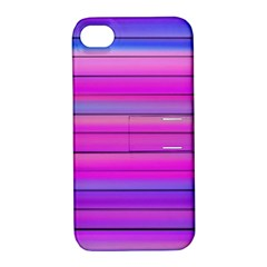 Cool Abstract Lines Apple iPhone 4/4S Hardshell Case with Stand