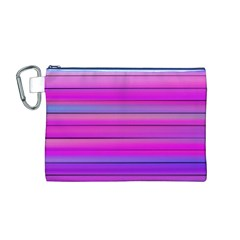 Cool Abstract Lines Canvas Cosmetic Bag (M)