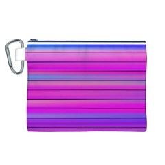 Cool Abstract Lines Canvas Cosmetic Bag (l)