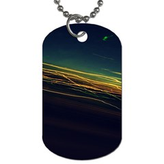 Night Lights Dog Tag (one Side)