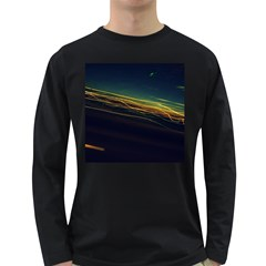 Night Lights Long Sleeve Dark T-Shirts