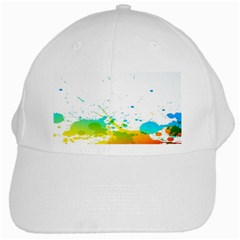 Colorful Abstract White Cap