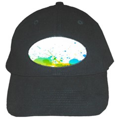 Colorful Abstract Black Cap