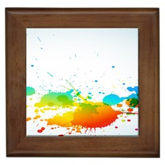 Colorful Abstract Framed Tiles