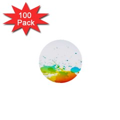 Colorful Abstract 1  Mini Buttons (100 Pack)
