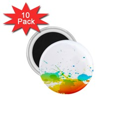 Colorful Abstract 1.75  Magnets (10 pack)