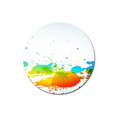Colorful Abstract Magnet 3  (Round)