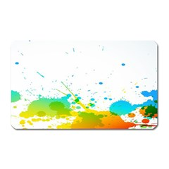 Colorful Abstract Magnet (Rectangular)