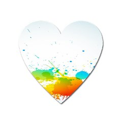 Colorful Abstract Heart Magnet
