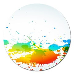 Colorful Abstract Magnet 5  (round)
