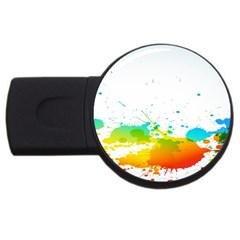 Colorful Abstract USB Flash Drive Round (1 GB)