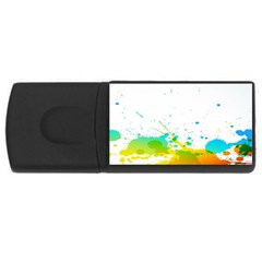 Colorful Abstract USB Flash Drive Rectangular (4 GB)
