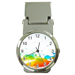 Colorful Abstract Money Clip Watches