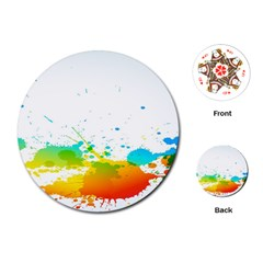 Colorful Abstract Playing Cards (Round)