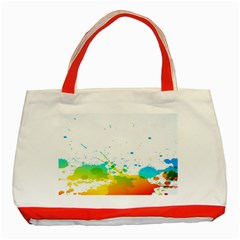 Colorful Abstract Classic Tote Bag (Red)