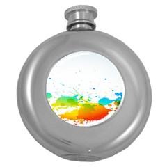 Colorful Abstract Round Hip Flask (5 oz)