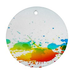 Colorful Abstract Round Ornament (Two Sides)